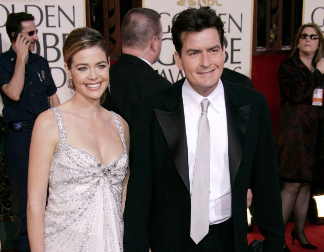 Mandatory Credit: Photo By PETER BROOKER/REX FEATURES Denise Richards and Charlie Sheen GOLDEN GLOBE AWARDS, BEVERLY HILTON HOTEL, LOS ANGELES, AMERICA - 16 JAN 2005