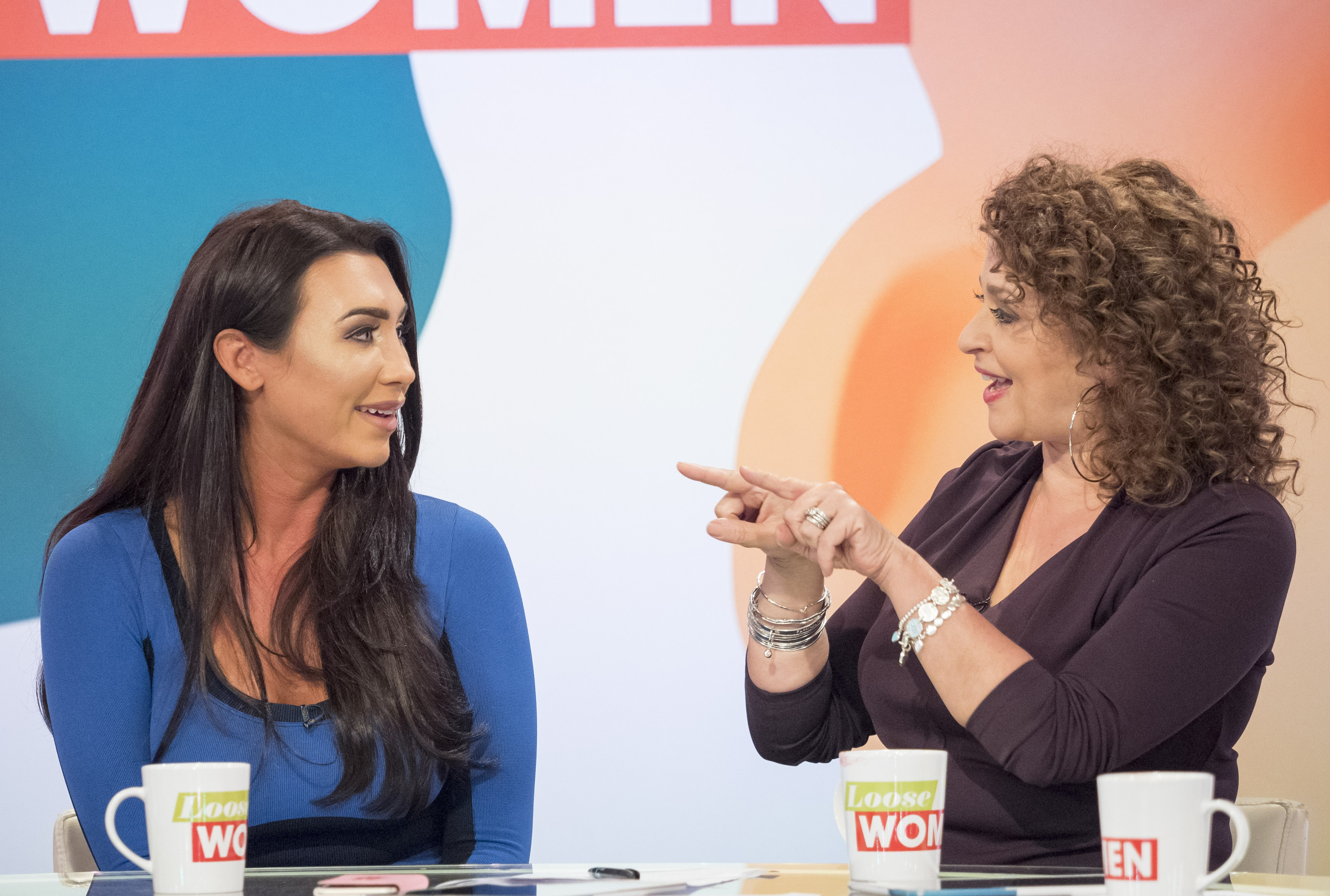 Awkward! Lauren Goodger asked if Michelle Keegan inspired her to lose weight on Loose Women