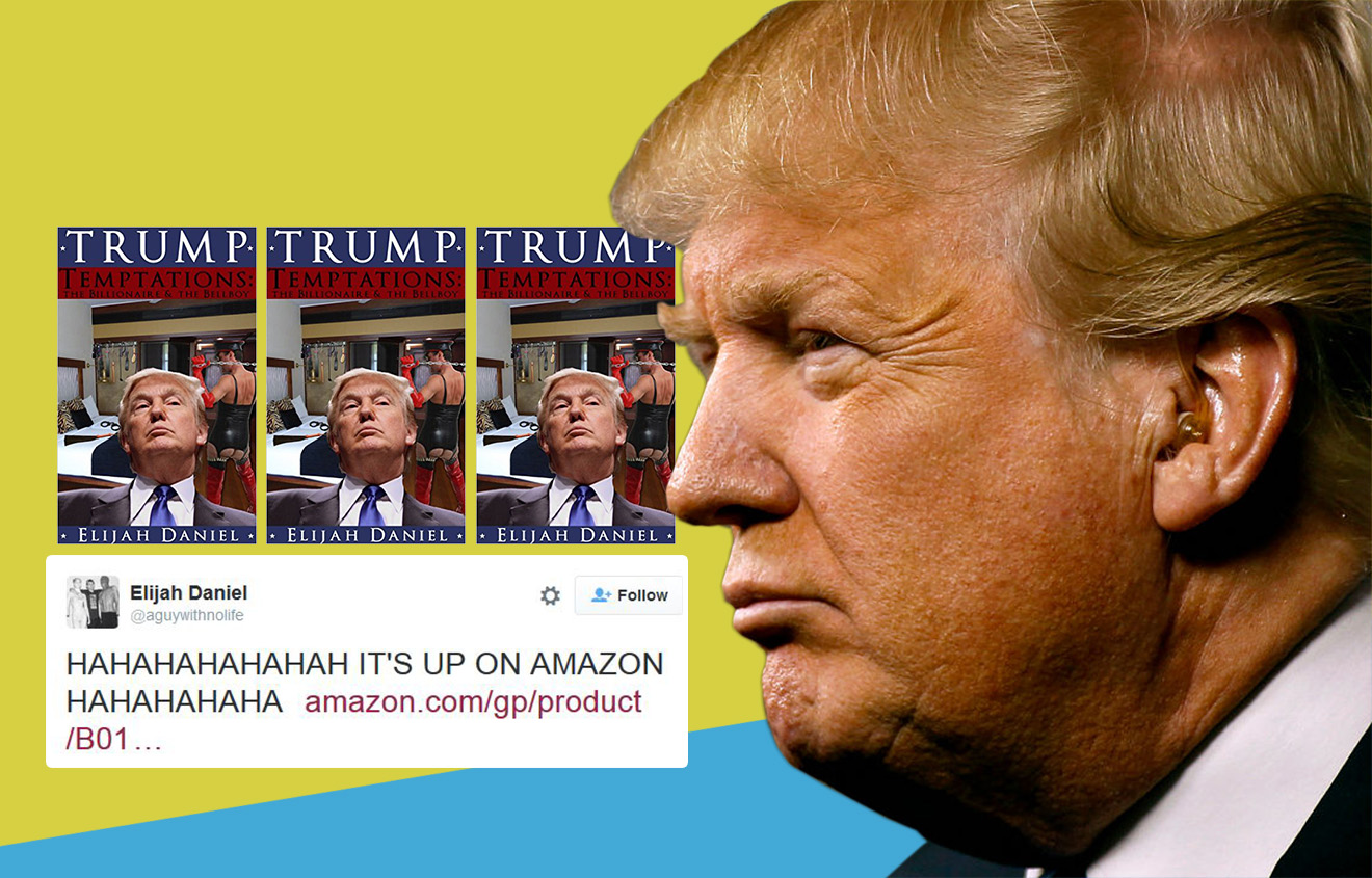 Someone wrote an erotic novel all about Donald Trump and you can now buy it on Amazon