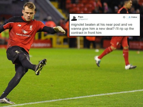 Liverpool fans want to rip up Simon Mignolet's new contract after Arsenal performance