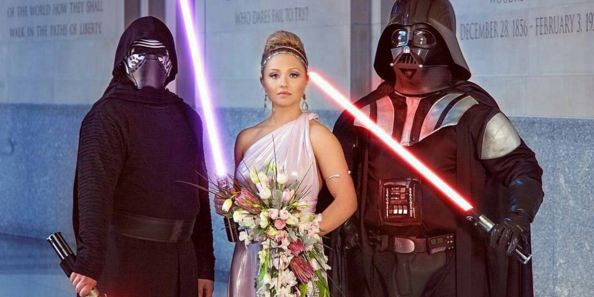 This Star Wars wedding will make you feel the full power of the dark side