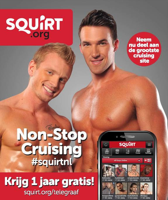 Gay Hook Up Adverts From Cruising Site Squirt Org Claims The Site Is The Biggest Cruising Site And Offers New Customers One Year Free Bargain