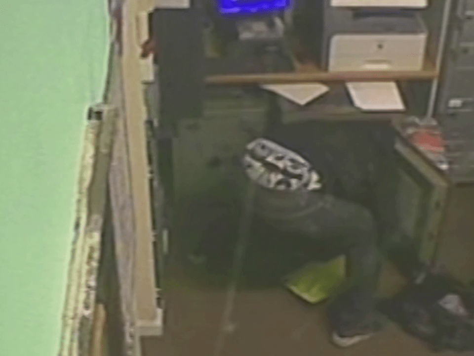 Criminal caught on CCTV has the craziest looking underwear ever