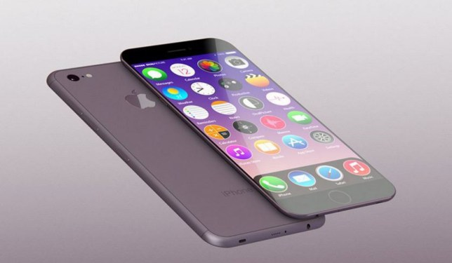 This designer's impression of the iPhone 7 reveals a much slimmer handset with no home button (Picture: Yasser Farahi)