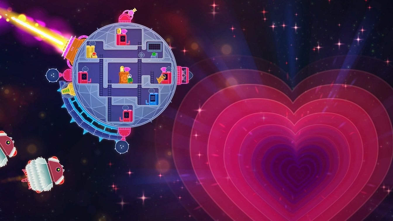 Lovers In A Dangerous Spacetime (PS4) - love and lasers
