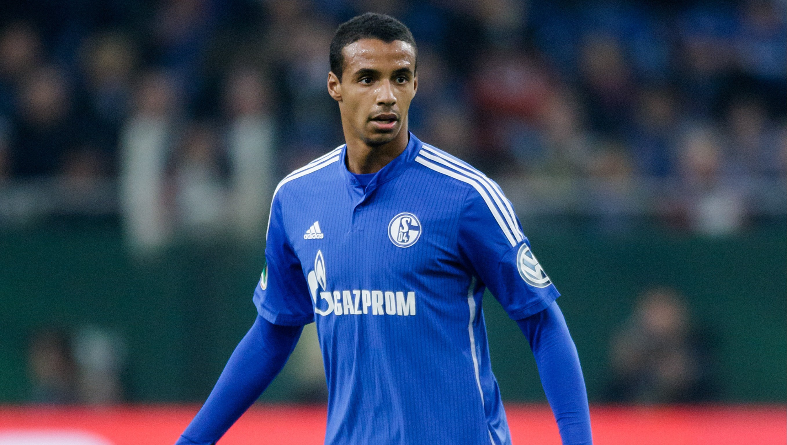 Joel Matip of Schalke 04 during the DFB Pokal match between Schalke 04 and Borussia Monchengladbach on October 28, 2015 at the Veltins Arena in Gelsenkirchen, Germany.(Photo by VI Images via Getty Images)