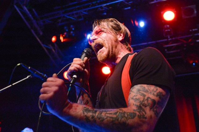 Eagles of Death Metal lead singer Jesse Hughes will feature in a new HBO doco about the Paris terror attacks (Picture: VILHELM STOKSTAD/AFP/Getty Images)