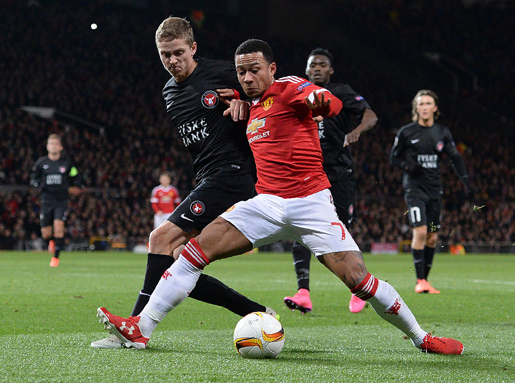 Memphis Depay nearly made me cry, says FC Midtjylland defender Andre Romer after Manchester United loss