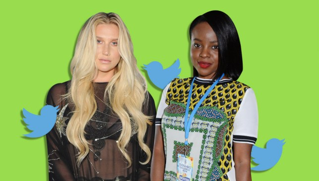 Ex-Sugababes star Keisha Buchanan receives tweets offering her a 'shoulder to cry' on after users confuses her with singer Kesha Credit: Getty Images/Metro
