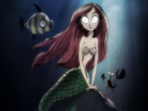 If Tim Burton re-made classic Disney characters they would look like this