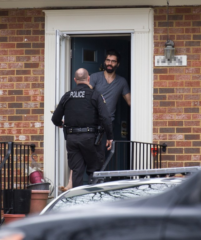 SILVER SPRINGMMD:FEB 4,2016: Officers of the Montgomery County Police Department arrive at the home of Daryush Valizadeh in Silver Spring Maryland. Valizadeh called officers after receiving death threats