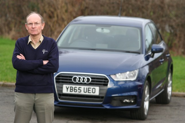 "Doctor Geoffrey Evans from Barnsley, South Yorkshire, who forked out almost £20k for a brand new Audi can only take it for a spin once a week for 40 minutes at a time - because he is ALLERGIC to it. See Ross Parry copy RPYCAR : Dr Geoffrey Evans, 64, gets a ""stinging, burning sensation"" across his entire body every time he takes his #18,000 Audi A1 for a drive. Dr Evans, who has a PHD in combustion chemistry, says it is the Formaldehyde found in the car's upholstery and plastics which is the catalyst - despite being initially told by an Audi salesman that their cars did not contain the chemical. Speaking about the huge problem and risk to his health, he said: ""Obviously, it is a nightmare. It's not the best thing to come of buying a new car because I can't use it that much."