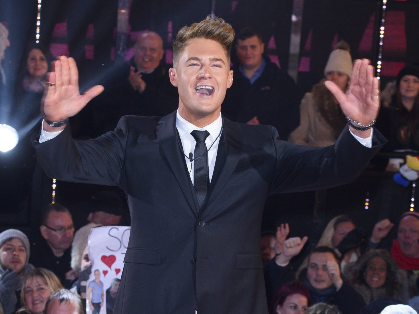 Mandatory Credit: Photo by Jonathan Hordle/REX/Shutterstock (5582961ai) Scotty T 'Celebrity Big Brother' TV show final, Elstree Studios, Hertfordshire, Britain - 05 Feb 2016