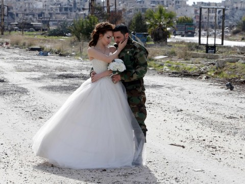 These wedding photos taken in Syria's wreckage remind us that love conquers all