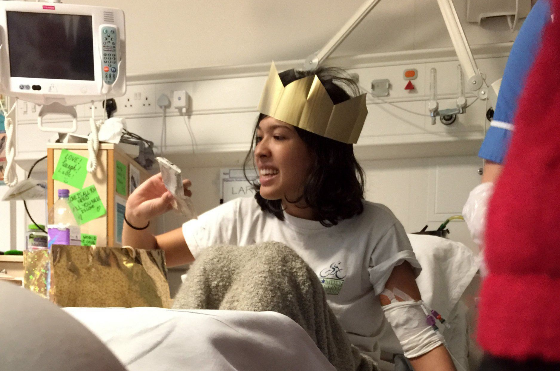 Embargoed to 0001 Tuesday February 9 Undated handout photo issued by Anthony Nolan of Lara Casalotti spending Christmas in hospital, as the mixed-race student diagnosed with an aggressive form of leukaemia has found a stem cell donor against the odds. PRESS ASSOCIATION Photo. Issue date: Tuesday February 9, 2016. She was diagnosed with acute myeloid leukaemia in December during a trip to Thailand and told her best hope of a cure was a stem cell transplant. See PA story HEALTH Lara. Photo credit should read: Anthony Nolan/PA Wire NOTE TO EDITORS: This handout photo may only be used in for editorial reporting purposes for the contemporaneous illustration of events, things or the people in the image or facts mentioned in the caption. Reuse of the picture may require further permission from the copyright holder.