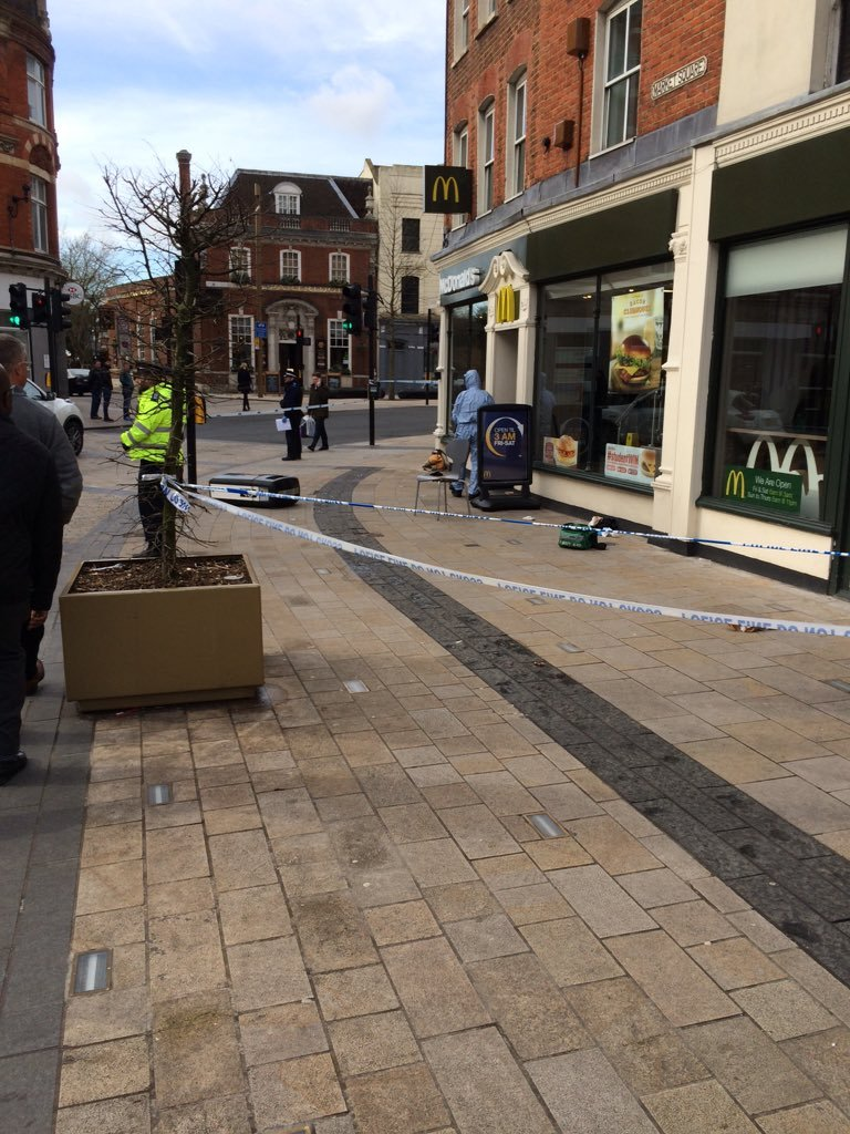 bromley - andyadams11mufc Man stabbed in the head outside McDonald's