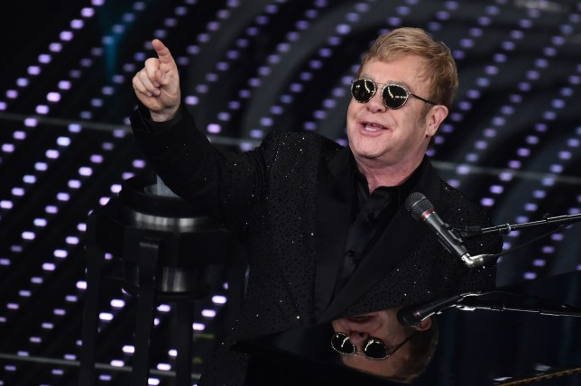 Picture Shows: Elton John February 09, 2016 Elton John performs at the 66th Italian Music Awards in Sanremo, Italy. Non-Exclusive UK RIGHTS ONLY Pictures by : FameFlynet UK © 2016 Tel : +44 (0)20 3551 5049 Email : info@fameflynet.uk.com