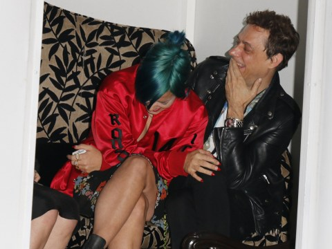 Giggly Lily Allen has a fine old time as she parties with Kate Moss's ex Jamie Hince