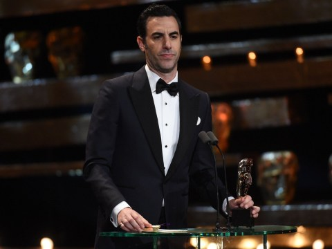 BAFTAs 2016: Sacha Baron Cohen shocks with 'best white actress' quip on stage