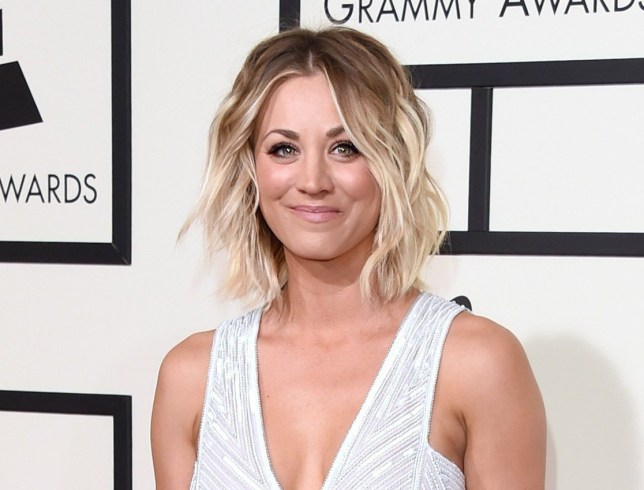 LOS ANGELES, CA - FEBRUARY 15: Actress Kaley Cuoco attends The 58th GRAMMY  Awards