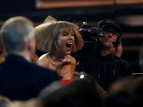 Taylor Swift got a little over-excited after Ed Sheeran won his first ever Grammy award…