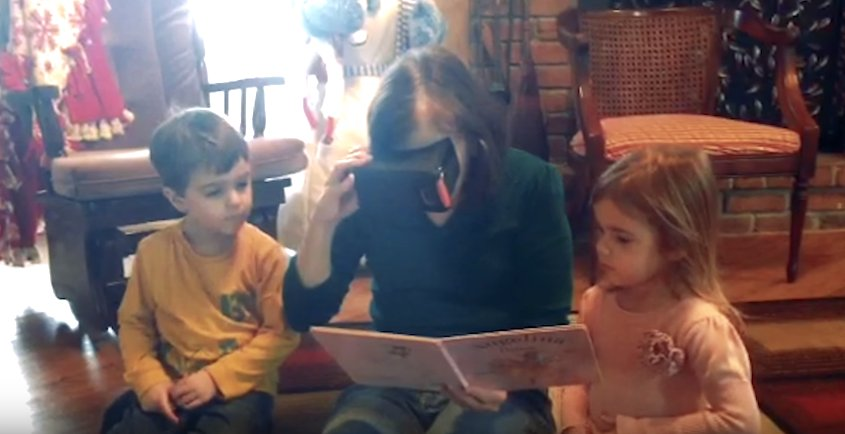 Heart-warming moment blind woman sees her grandchildren for the first time