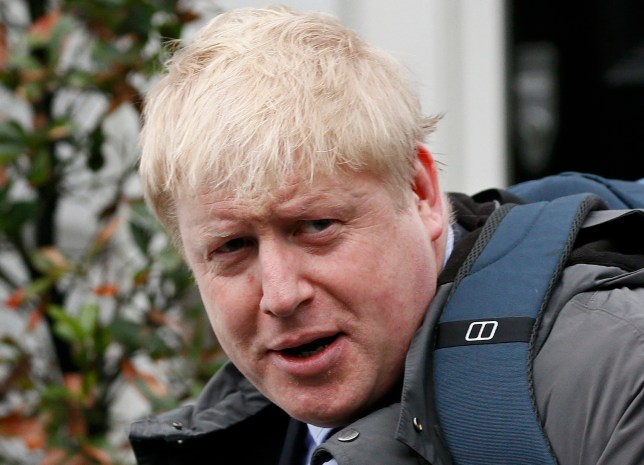 London Mayor Boris Johnson speaks to the media in front of his home in London, Britain February 22, 2016. Johnson threw his weight on Sunday behind the campaign to leave the European Union, dealing a blow to David Cameron by increasing the chance British voters will ditch membership in a June referendum. REUTERS/Stefan Wermuth