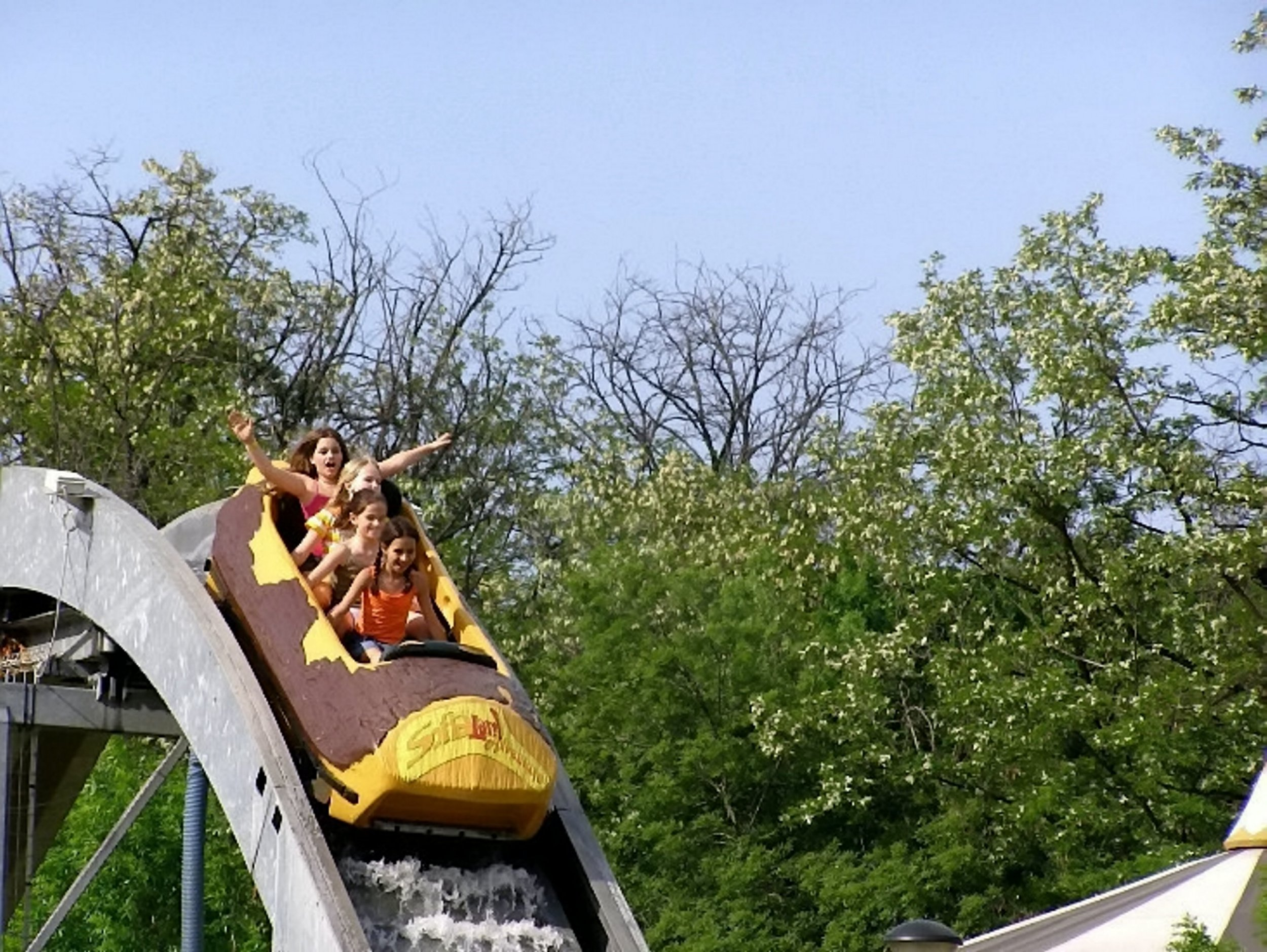 A theme park is selling a host of unusual items on eBay including a wooden log flume