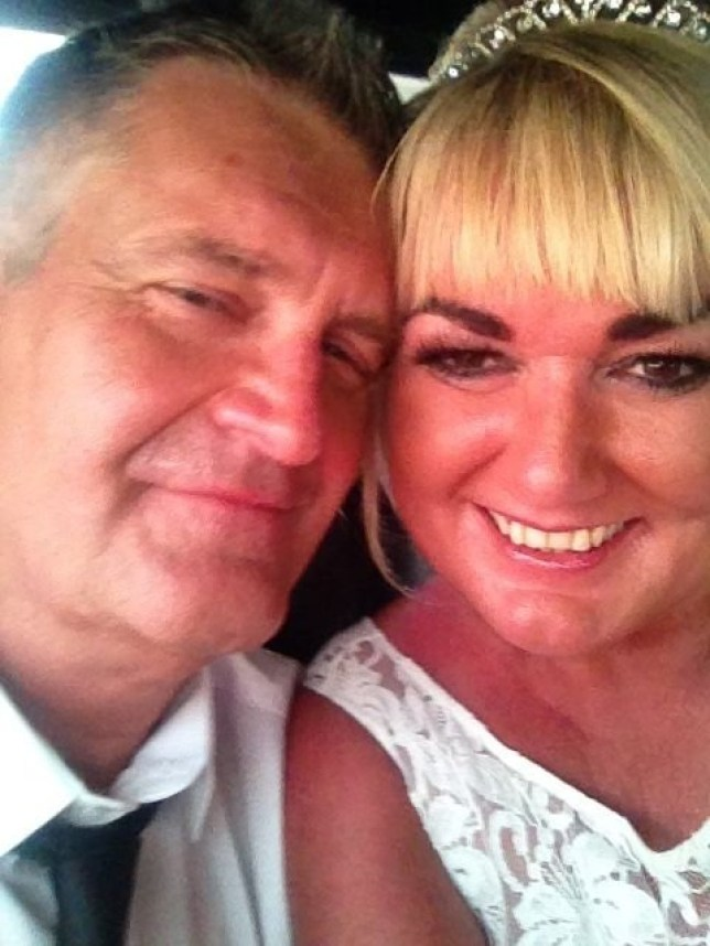 Collect picture shows David Edwards and wife Sharon who is standing trial for his murder. See Ross Parry copy RPYMURDER : Sharon Edwards, 42, appeared at Manchester Crown Court this morning (Mon) accused of stabbing 51-year-old solicitor David Edwards to death at their marital home. His body was found at the coupleís smart four-bedroom detached property in Chorley, Lancs., on Sunday night, shortly after they returned from a Las Vegas honeymoon.