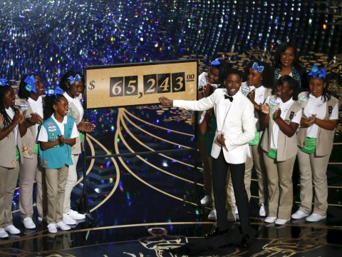 Oscars 2016: Chris Rock's daughters handed out cookies and they raised $65,243