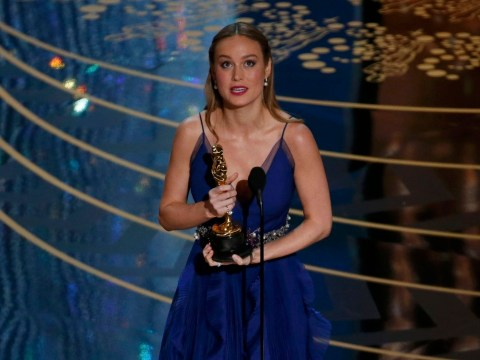 Brie Larson hugged every single one of the sexual assault survivors who performed with Lady Gaga