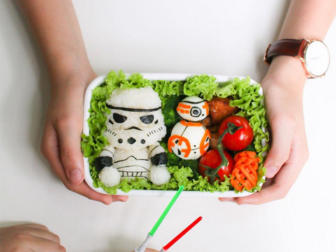 Mum makes cartoon inspired food to make her children's lunches more fun