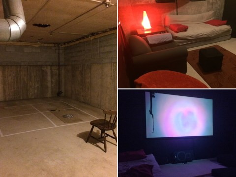 College students turn basement into home cinema – and they did it with just £100