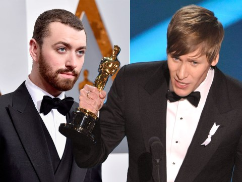 Dustin Lance Black tells Sam Smith to 'stop texting his fiance' Tom Daley after Oscars speech gaffe