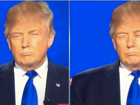 Replace Donald Trump's eyes with his mouth and he looks the same
