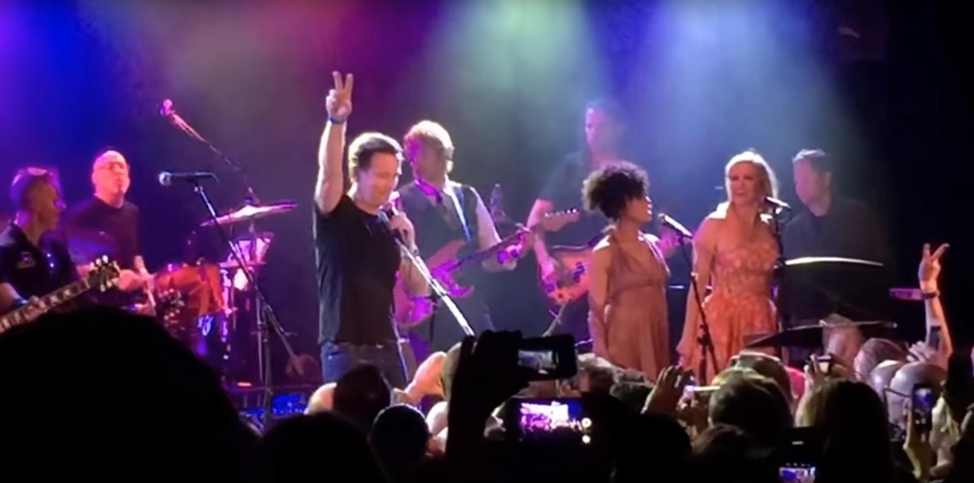 Ewan McGregor and Gary Oldman perform at David Bowie tribute concert