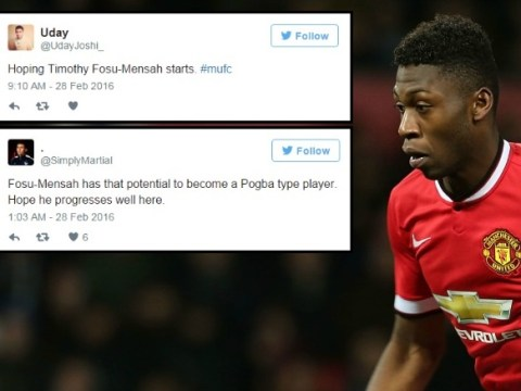 Manchester United fans are excited at prospect of Timothy Fosu-Mensah playing v Arsenal