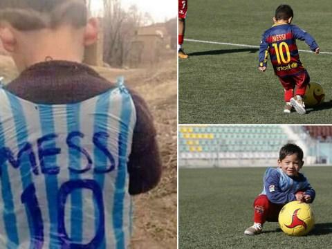 Murtaza Ahmadi swaps plastic bag for real Lionel Messi shirt, preparing to meet his idol