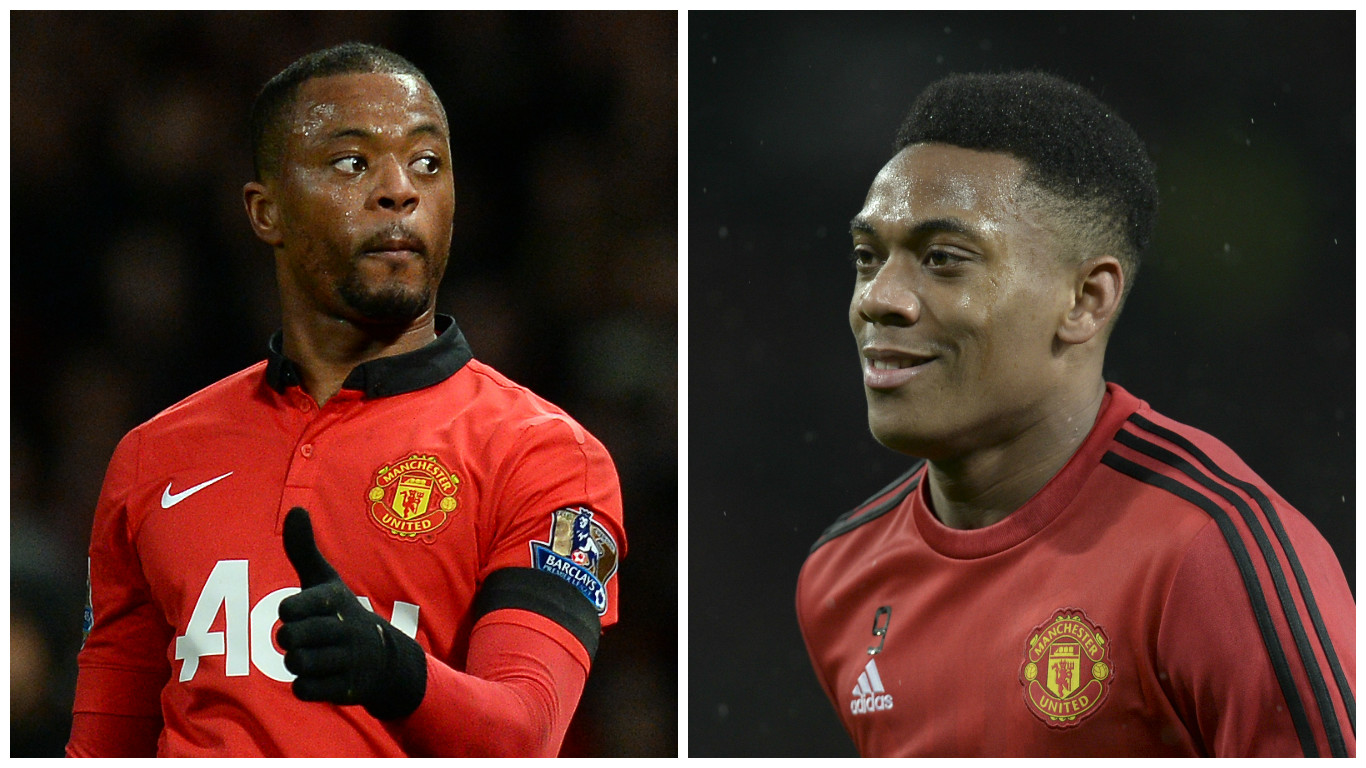 Anthony Martial reveals it was Patrice Evra who persuaded him to join Manchester United last summer