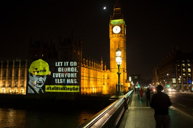 Greenpeace protested against the Hinkley development yesterday evening (Picture: Greenpeace)