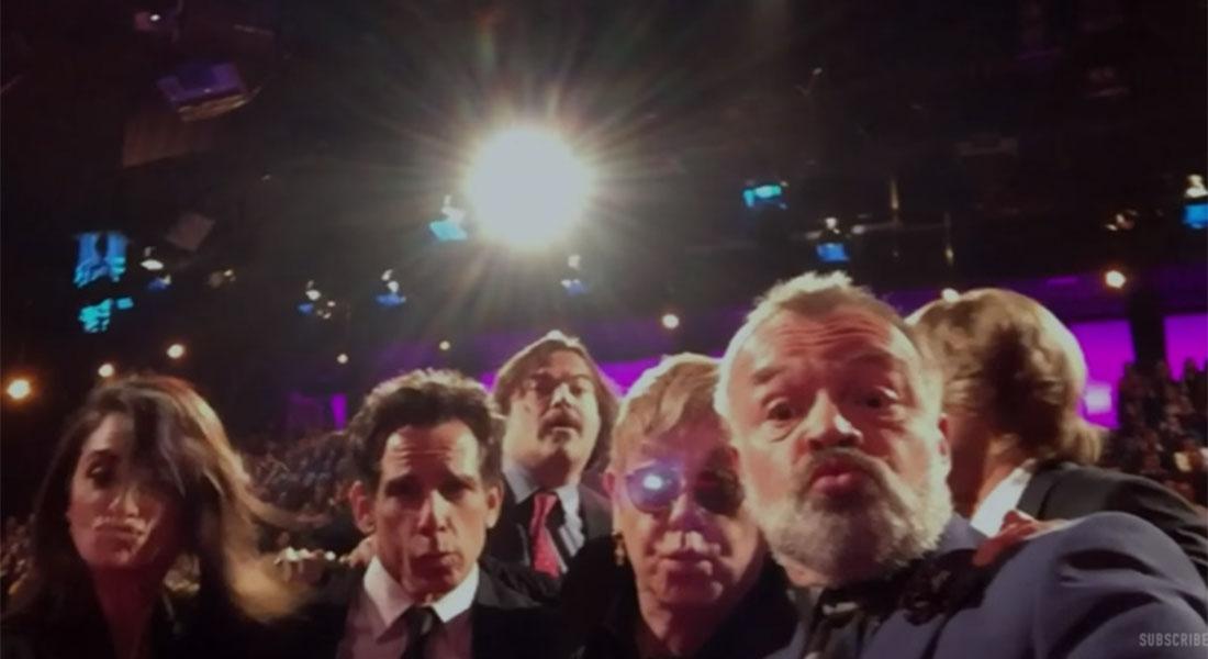 This Graham Norton Show selfie featuring Ben Stiller and Sir Elton John is pretty epic