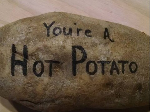 There's a website that will send out personalised baby potatoes to your loved ones