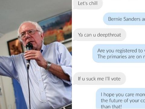 Women are getting kicked off Tinder for trying to get guys to vote for Bernie Sanders