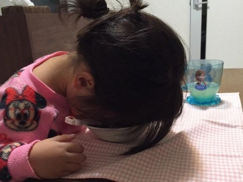 Japanese parents are sharing photos of the hilarious ways their kids fall asleep