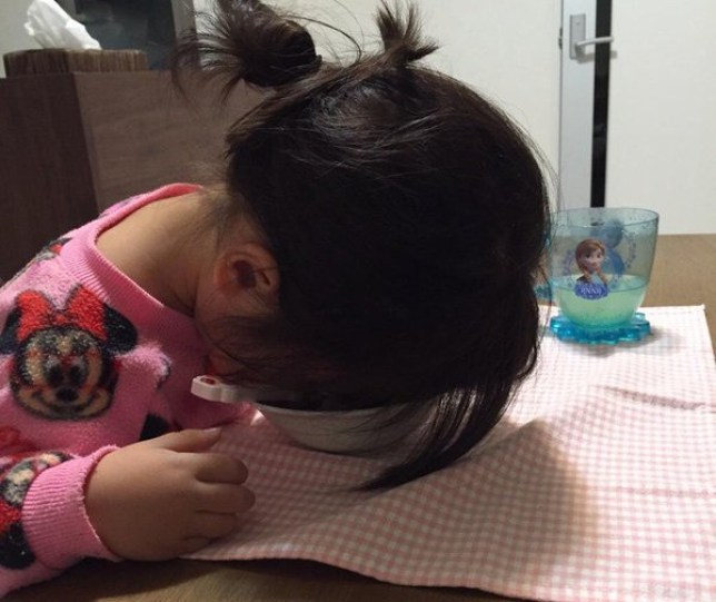 japanese parents share the weird way their kids fall asleep