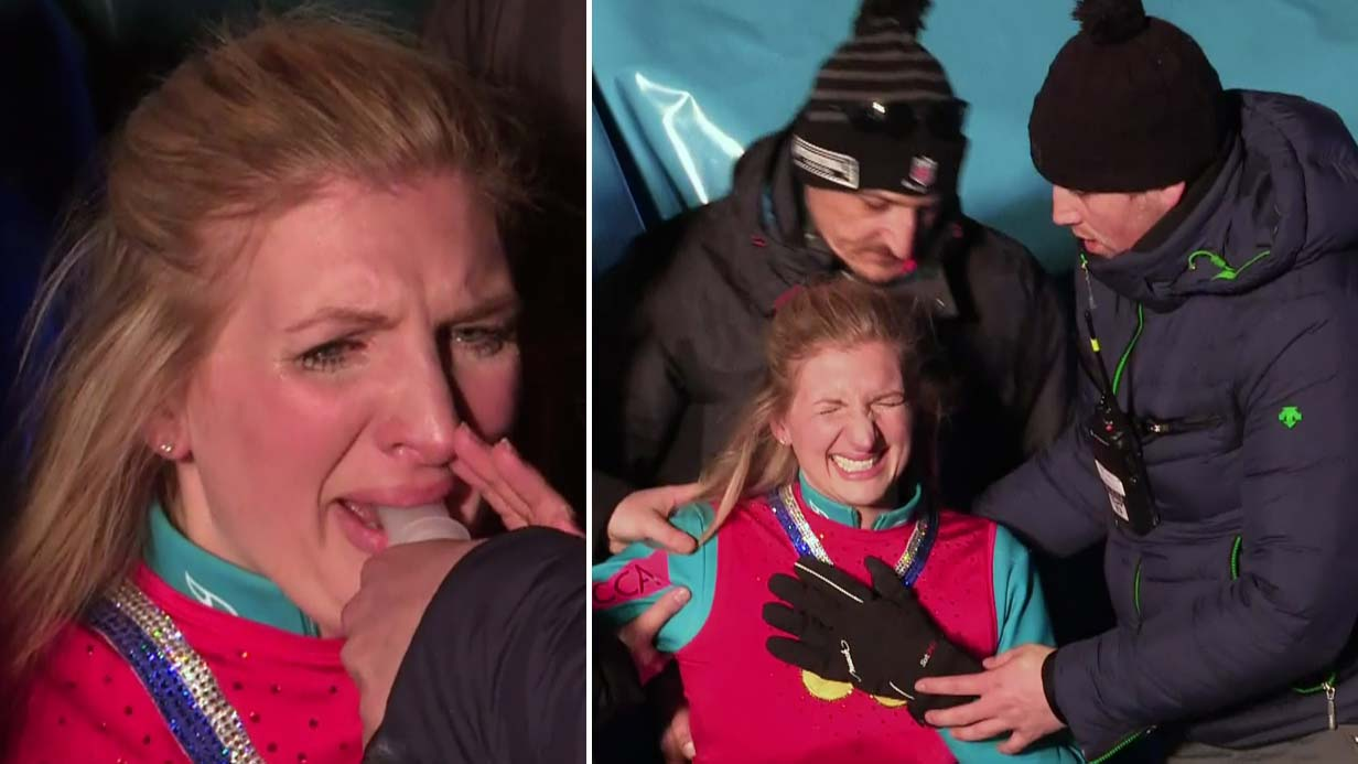 Rebecca Adlington says dislocating her shoulder on The Jump was 'worse than childbirth'
