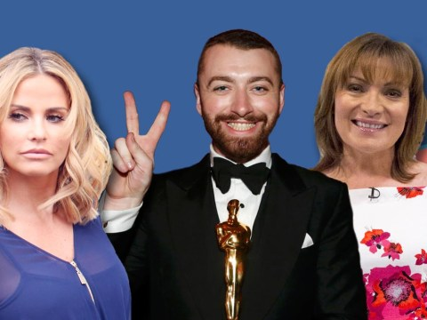 Oscars 2016: Sam Smith dedicates his Oscar to Lorraine Kelly and Katie Price