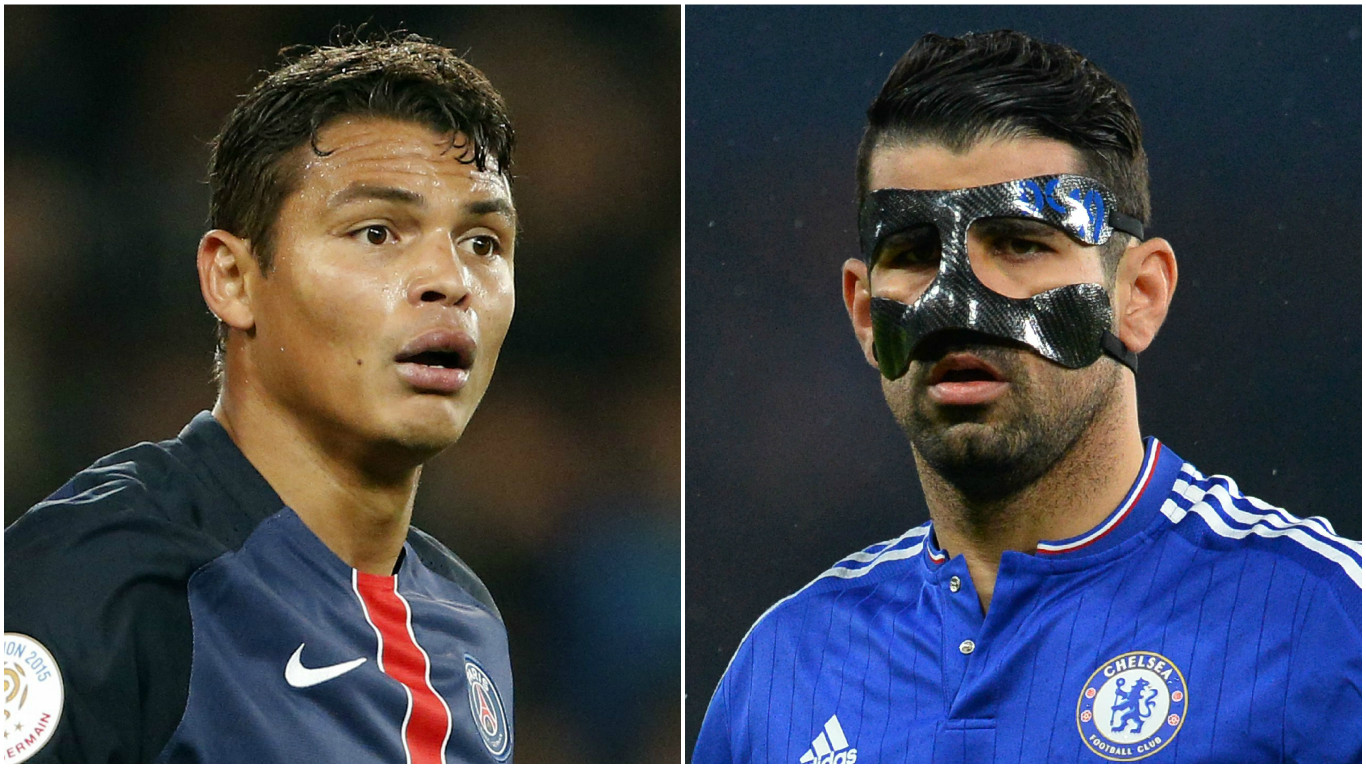 Chelsea's Diego Costa acts like a crazy person on the pitch, says Paris Saint-Germain's Thiago Silva