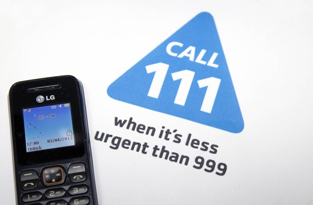 Mandatory Credit: Photo by Jeff Blackler/REX/Shutterstock (2237786w) New NHS 111 number for non-emergency medical calls, Britain Various
