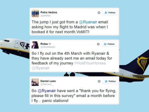 Oops. Ryanair emails customers asking them to review flights they haven't taken